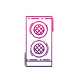 color line speaker electronic equipment to listen vector image vector image