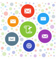 correspondence icons vector image vector image
