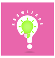 Creative light bulb symbol and question mark sign vector image