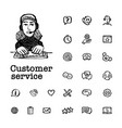 customer service concept online chat round shape vector image vector image