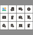 data security icon set isolated on vector image vector image