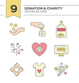 Donation Icons vector image vector image