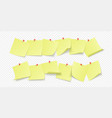 empty yellow stickers with space for text or vector image