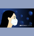 faces medical mask vector image