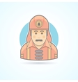 Firefighter fireman icon Avatar and person vector image vector image