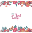 Floral border with flowers berries and butterfly vector image vector image