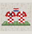 football croatia sport wear tshirt vector image vector image