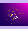 friends chat line icon friendship love sign vector image vector image