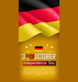 germany independence day vertical flyer vector image vector image