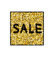 gold sale background vector image
