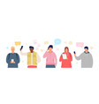 group people in smartphone chat young men vector image vector image