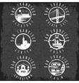 Grunge label set with landmarks of San Francisco vector image vector image