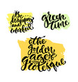 hand lettering collection modern hand lettered vector image vector image
