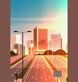 highway asphalt road with marking arrows traffic vector image