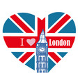 i love london - banner vector image