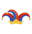 jester hat icon clown head wear to make jokes vector image vector image