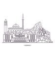 landmark buildings albania vector image