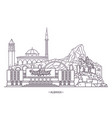 landmark buildings of albania vector image