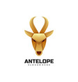 logo antelope gradient colorful style vector image vector image