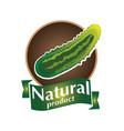 logo natural product vector image vector image