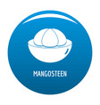 mangosteen icon blue vector image vector image