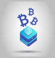 mining bitcoin server icon in isometric style vector image