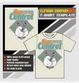 mock up clothing company t-shirt templatehand vector image