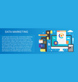modern flat gradient data marketing concept vector image vector image