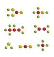molecule colorful icon set vector image