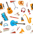 musical instruments pattern vector image