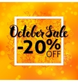 October Sale Flyer vector image vector image