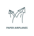 paper airplanes line icon linear concept vector image vector image