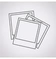 photos icon vector image vector image