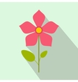Pink flower icon flat style vector image vector image