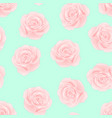 pink rose on green mint background vector image vector image