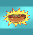 pop art hot dog fast food vector image