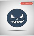 pumpkin helloween isolated vector image vector image