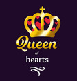 queen of hearts ilustration vector image
