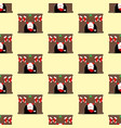 santa in fireplace pattern vector image vector image