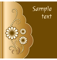 Scrapbook with jewelry flowers vector image vector image