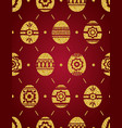 seamless pattern of golden easter eggs isolated vector image vector image