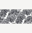 seamless pattern with wildflowers for light vector image vector image