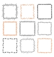 Set of 9 decorative square frames vector image vector image