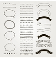 Set of Decorative Hand Drawn Design vector image