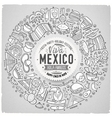 Set of Latin American cartoon doodle objects vector image vector image