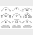 set of silhouettes of classical facades vector image vector image