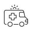 simple monochrome ambulance icon medical