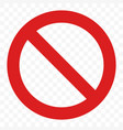 stop sign no entry pass warning red icon vector image vector image