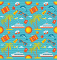summer vacation background seamless pattern vector image