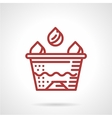 Tattoo ink cup red line icon vector image vector image